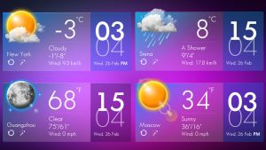 Clear Glass Style Weather HD for xwidget by jimking