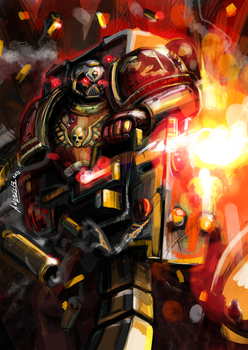 Devastator Space Marine by Kiaun