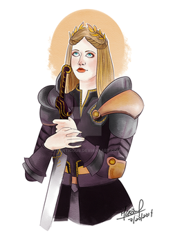 Elissa Cousland, The Hero of Ferelden by Senticous