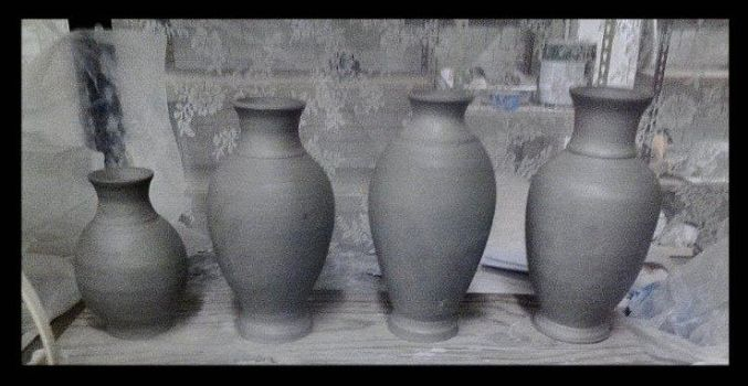 Vases works in progress... by griffinlady