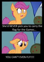 Poor Scootaloo by AppleCider1412