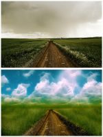Dreamscape Before and After by MelanieMaterne