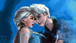 Elsa x Jack Frost by I-AM-JoshuaYong