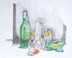 Pointillism - Still Life by Madame-Kikue