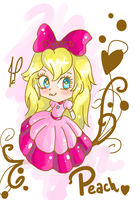 Chibi Peach sweet aww............................. by JamilSC11