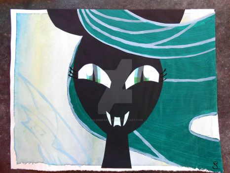 Queen Chrysalis Painting/Collage by SalemSparkler