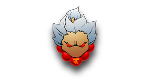Street Fighter: Gouki_Akuma minimalism by darkheroic