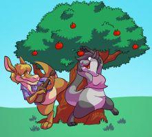 Under the Apple Tree by Fyuvix