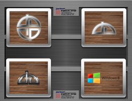 Wood And Metal deviantArt Icon Pack Preview by jSerlinArt