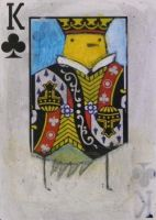 Yellow Bird King of Clubs ACEO by SethFitts