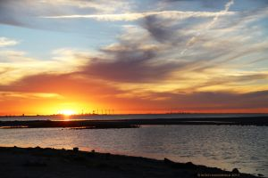 Sunset on Corpus Christi Bay by TokiiWorks