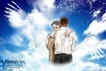 SPN S10.18 fanart : Good to have you back, pal! by noji1203