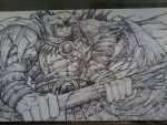 Polar bear God Hand Drawn Playmat by Deadhead37