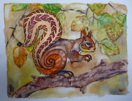 Pictish Squirrell by emma-hobbit