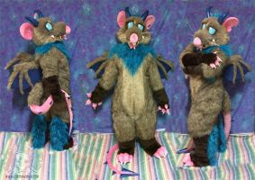 Garabaldi the Drat Fursuit by LobitaWorks