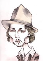 johnny depp caricature by j0epep
