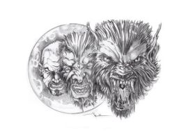 my werewolf tattoo design by Daequitas