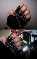 Nail Art: RAM Guy-Manuel nails by GingaAkam