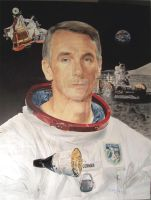 Apollo Astronaut Gene Cernan by Paluso4art