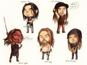 Tiny Fierce Metalheads by LonelyFullMoon
