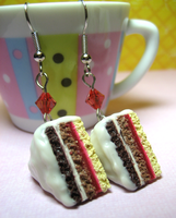 Layered Cake Earrings by Shacchan