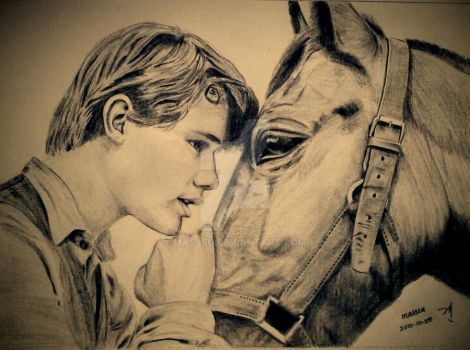 Jeremy Irvine in War Horse by masseu