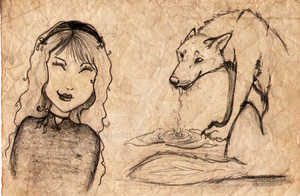little red riding hood- sketch by Ginchen666