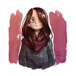 pattern Girl 1 by Iraville