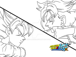Goku and Trunks by Ezio-anime