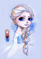 Elsa (and her creepy sister) by Poledrey