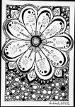 Zentangle Flower by Anbeads
