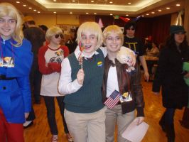 England and America Yaoi Stick - Tigercon 2012 by WolvesOfComedy