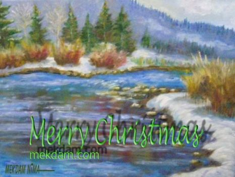 Merry Christmas and Happy New Year by OilPaintingOnCanvas