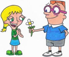Irving Giving Katie a Flower by nintendomaximus