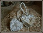 Decorative heart pendants by MrsEfi