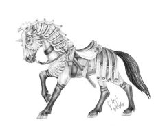Adelais Armored Horse by buckskinmare