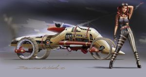 Steampunk Nullarbor Racer by berniewalsh