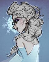 Elsa - Frozen Heart by nataliebeth