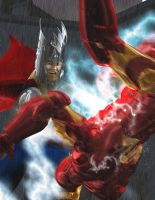 Iron Man and Thor 3 of 3 by HAL001