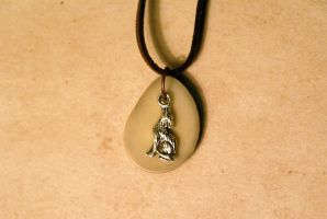 Tagua Coyote Neckalce by MonsterBrandCrafts
