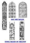Medieval,gothic stained glass windows by BrianFP