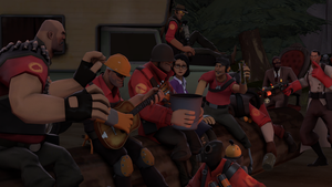 Camping With the  RED Team by 19crowbar19