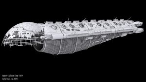 Reaver Galleon Ship - WIP by Davide-sd