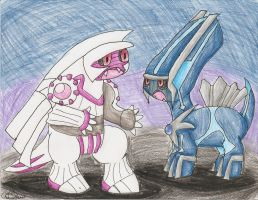 AT Palkia and Dialga by Chenanigans