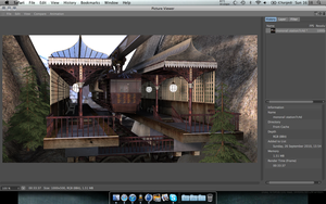 steampunk monorail station wip by shaddam89