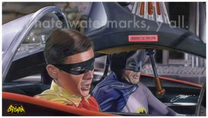 Batman TV show illustration--Turbines to speed--! by SteveStanleyArt