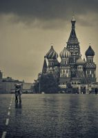 Rain at Red Square by somebody3121