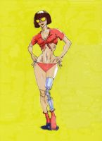 J Scott Velma Pin-Up style by LondonJohnIII