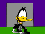 Zombie Daffy Duck coming from his grave by MarcosLucky96