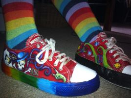 Painted shoes 3 by Ellenoric